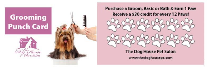 Rewards Program The Dog House Pet Salon